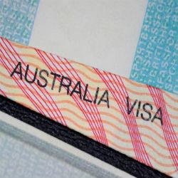 Australia Visa Schriftzug