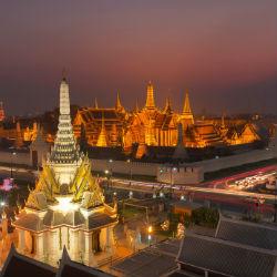 Bangkok Stadt von oben