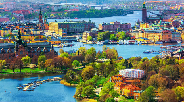 Blick auf das Stadtbild von Stockholm