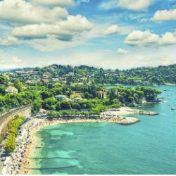 Blick auf die Coté D'Azur