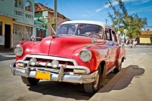 Ein typisches Bild auf den Straßen Kubas