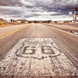 Viele Teile der alten Route 66 sind noch heute befahrbar