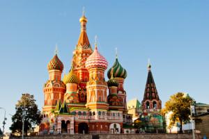 Der Rote Platz in Moskau beeindruckt durch seine schiere Grösse