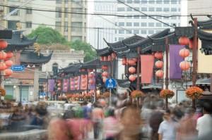 Pulsierendes Stadtleben in Shanghai