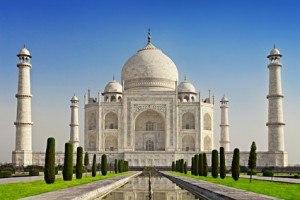 Der beeindruckende Taj Mahal in Agera, Indien