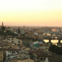 Abendhimmel von Florenz