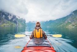 Im Kanu in Skandinavien