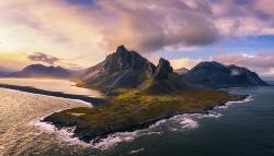 Der Berg Krossanesfjall