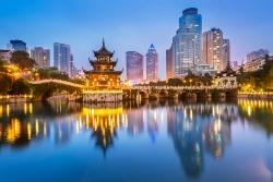 Guiyang in der Nacht