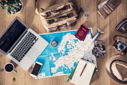 Planungsmaterial für Urlaub