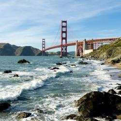 Golden Gate Bridge landmark in San Francisco California USA