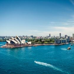 Blick auf die Sydney Opera und die Harbor Bridge